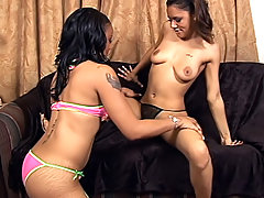 Black whores lick each other's snatches