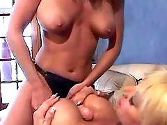 Cute lesbians take dildo sex lesson