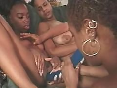Smooth lesbian busty girls have sex party